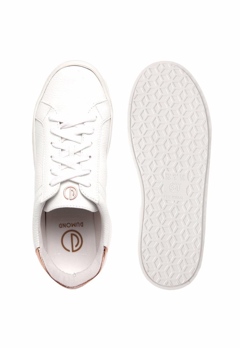a386ec6ddf3 tênis feminino dumond branco com dourado slip on 4112688. Carregando zoom.