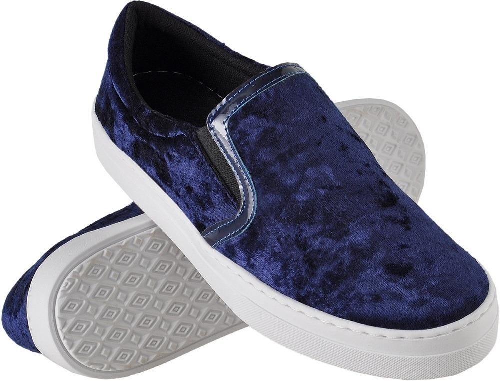 51bd7a8a5a tênis feminino elástico sapatilha iate veludo promoção cores. Carregando  zoom.