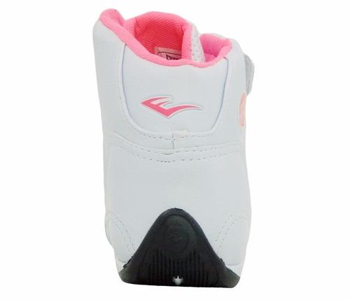 tênis feminino everlast jump branco e rosa