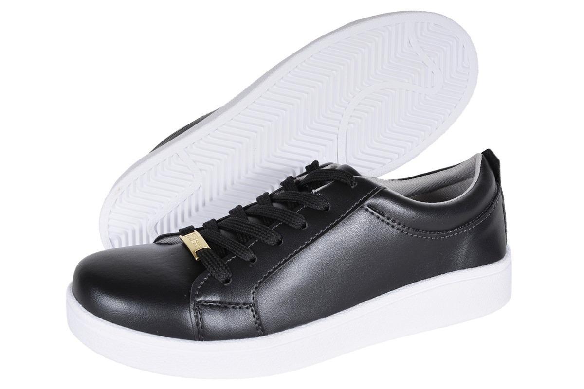 5c46c3152 tênis feminino flaform moda fashion preto e branco. Carregando zoom.