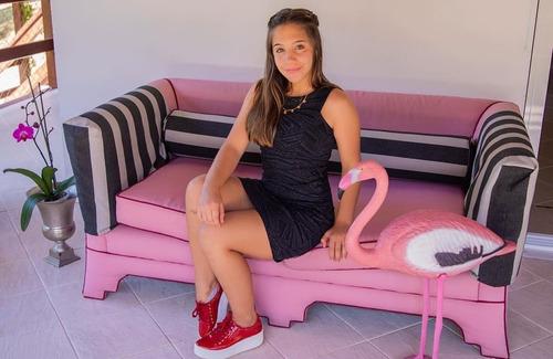 tênis feminino infantil juvenil flatform sola alta