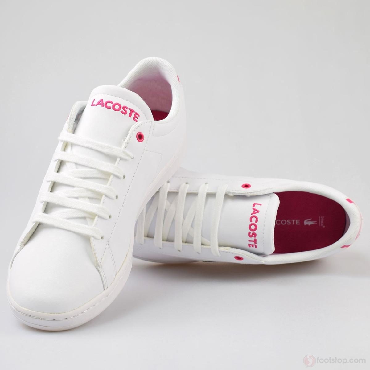 e6b310771a21b tênis feminino lacoste carnaby -rosa original na caixa n° 35. Carregando  zoom.