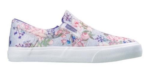 tênis feminino mary jane slip flowers original
