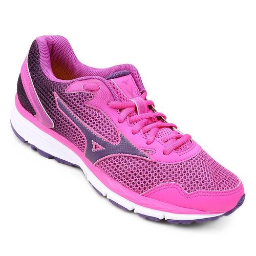 tênis feminino mizuno brave 2 original 4140671 pink