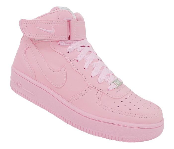 2c15e949762ff Tênis Feminino Nike Air Force 1 Mid 07 Rosa Original - R$ 250,00 em ...