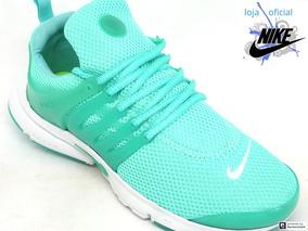 d9b6b8cce30 Tênis Feminino Nike Air Presto Verde Água E Branco 2019
