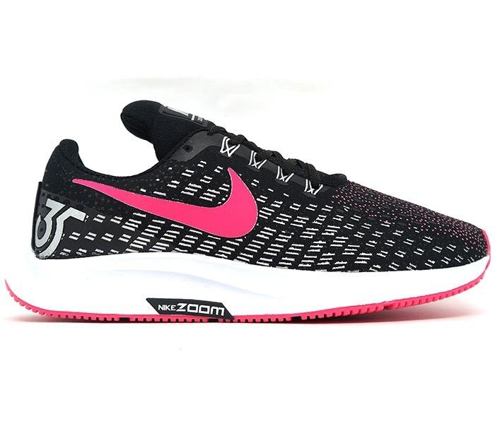 Tênis Feminino Nike Air Zoom Pegasus 35 Preto E Pink Barato - R  200 ... 776e0dc0869d1