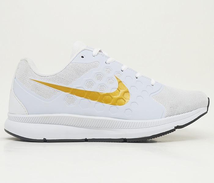 bd74ab488 Tênis Feminino Nike Running Branco E Dourado Promoção Barato - R ...