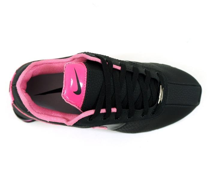 nike shox deliver feminino preto e rosa
