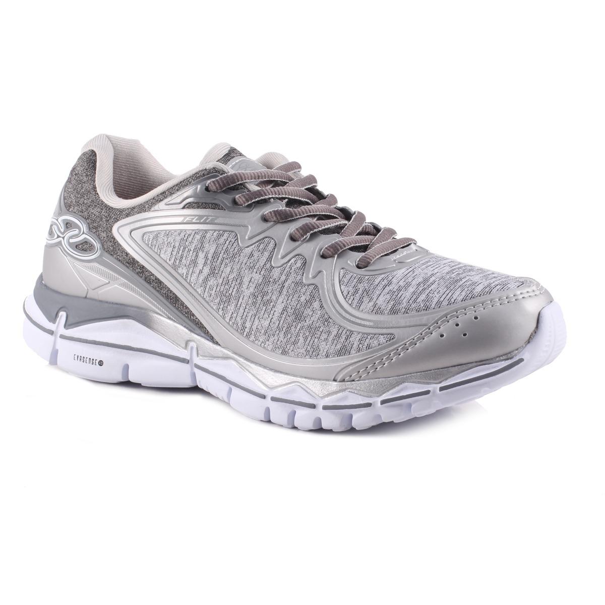 tênis feminino olympikus flit prata cinza caminhada corrida. Carregando  zoom. 377fe0353e60d