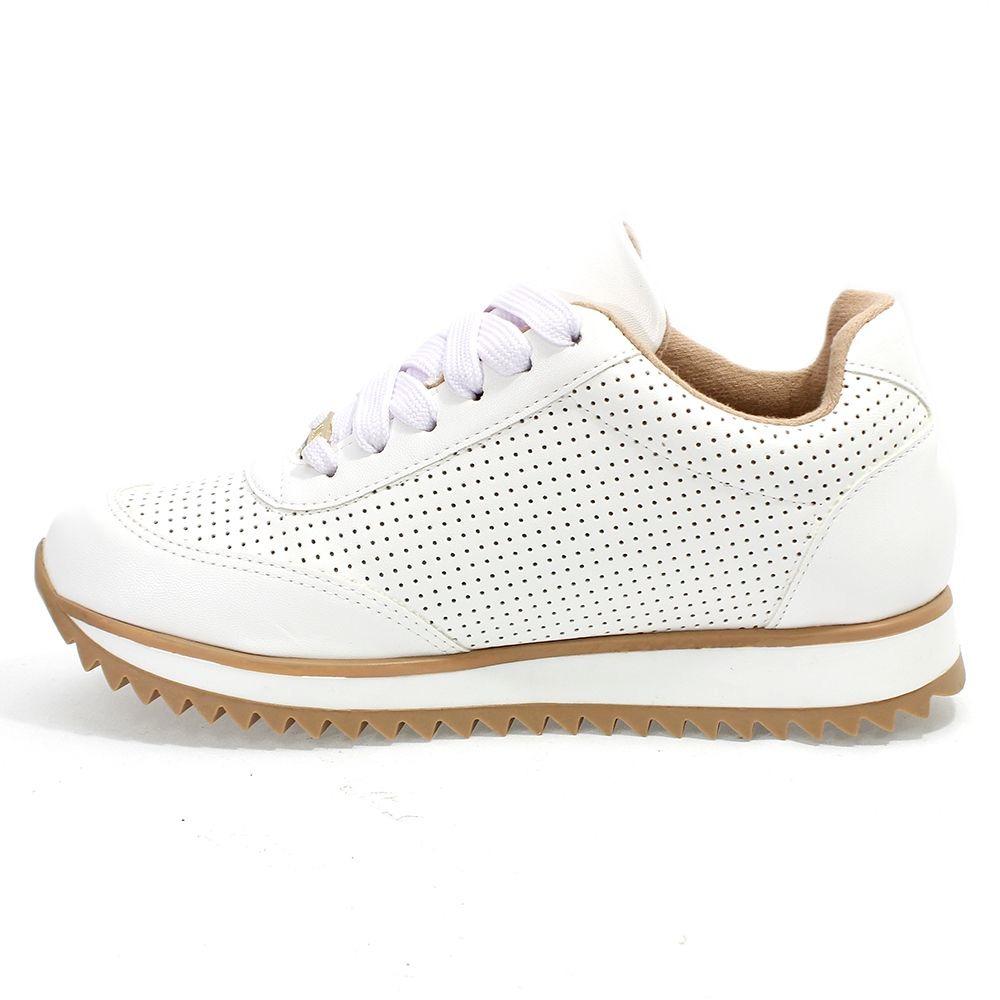 c2177a0a9af tênis feminino pelica tratorado branco vizzano. Carregando zoom.