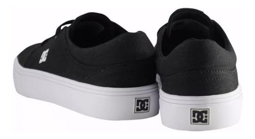 tênis feminino preto dc shoes trase tx black/white original