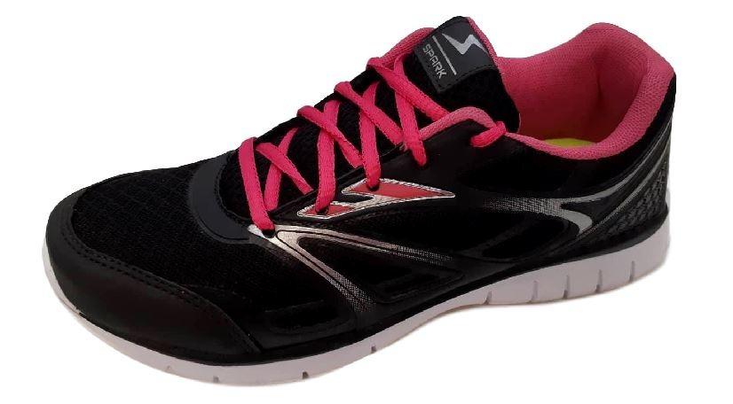 3c16b0446d tênis feminino preto pink caminhada academia. Carregando zoom.