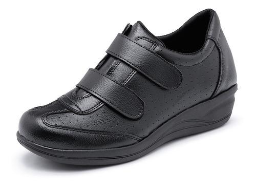 tênis feminino salto p/ esporão ortopédico confort sapato