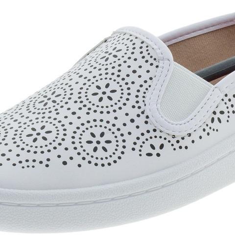 tênis feminino slip on moleca - 5657206 branco
