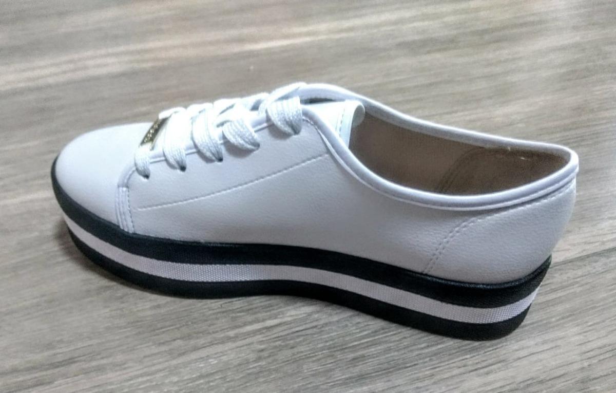b41788ed7 tênis feminino sola alta plataforma flatform moleca branco. Carregando zoom.