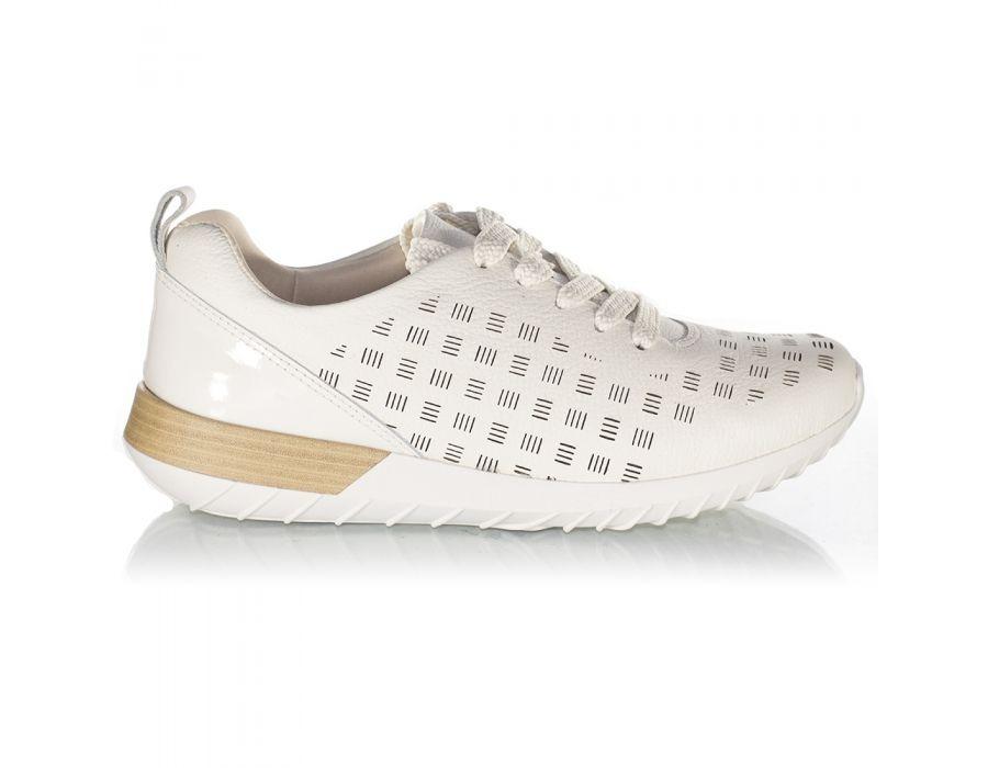 3dc4e5974 tênis feminino usaflex couro aa0803 02 off white nº 33. Carregando zoom.