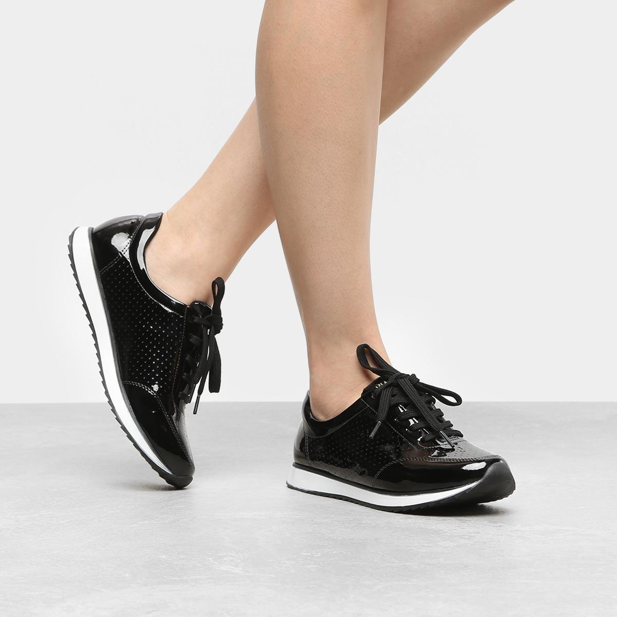 313c6727c tênis feminino via uno jogging verniz black cadarço oxford. Carregando zoom.