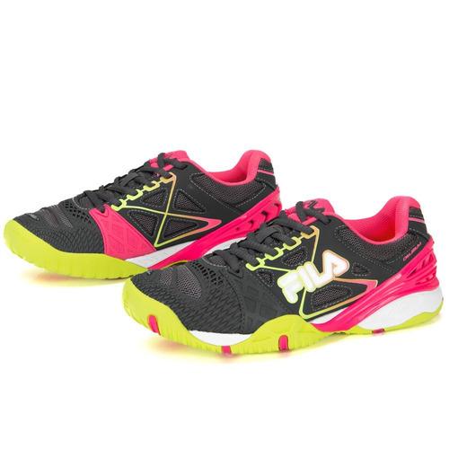 8e8425a5a9f Tênis Fila Cage Delirium Indoor Cinza Pink E Verde Limão - R  369