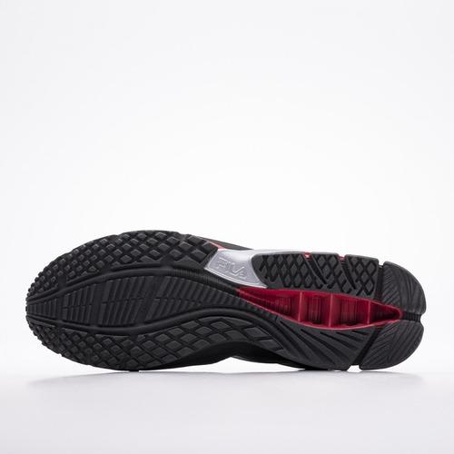 tênis fila cage python preto vermelho masculino