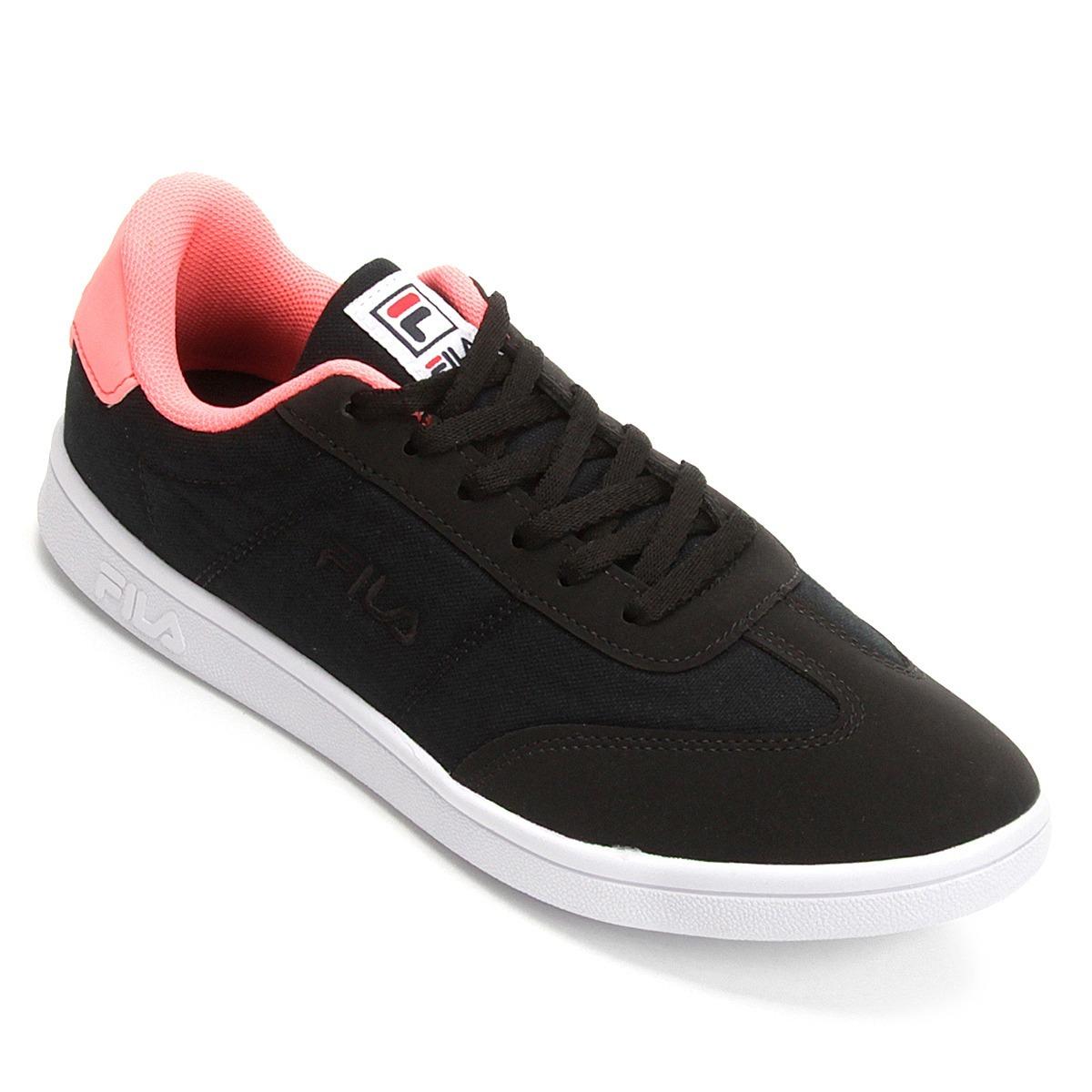 71a63c4cee9 tênis fila dell corte feminino preto e rosa. Carregando zoom.