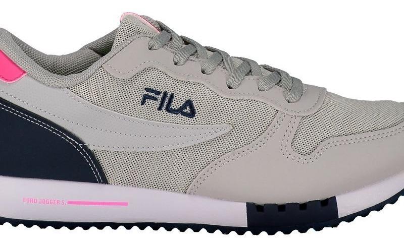 0f75355d4c Tênis Fila Euro Jogger Sport Feminino Cinza - R$ 219,90 em Mercado Livre