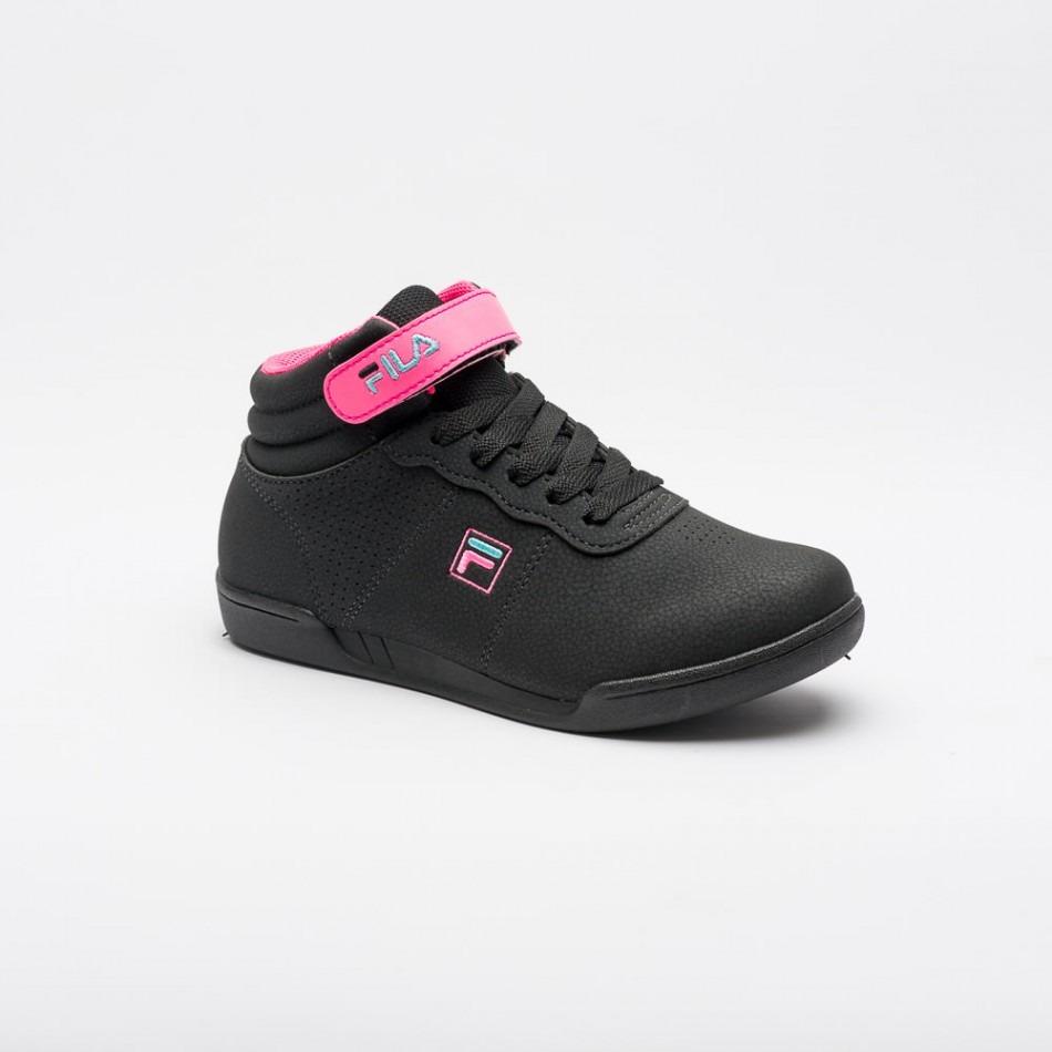 68178c2f3eb tênis fila f 16 high preto rosa feminino infantil. Carregando zoom.
