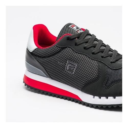 tênis fila retro runner se masculino original preto vermelho