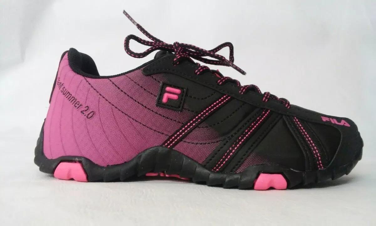 d922a8909d7 tênis fila slant summer 2.0 feminino - preto e rosa. Carregando zoom.