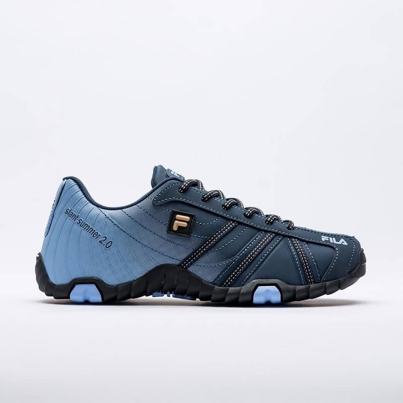 cd433598a1e tênis fila slant summer w 2.0 feminino original azul preto. Carregando zoom.