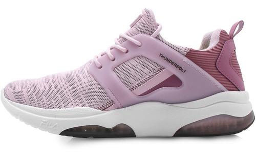 tênis fila thunderbolt light rosa feminino