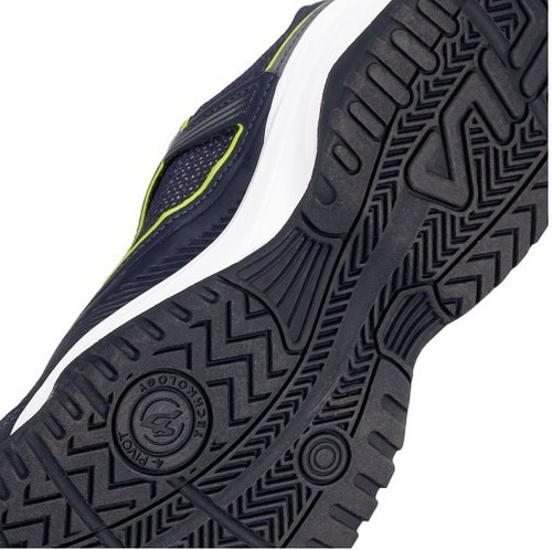 tênis fila top spin 3.0 marinho e verde limão| gaby calçados