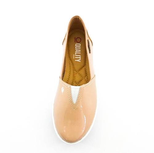 d7b6efa1a0 Tênis Flatform Quality Shoes Feminino 003 Verniz Bege - R  99