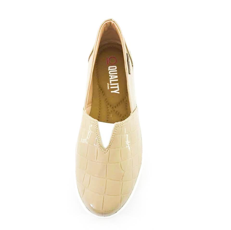 bd46983426 tênis flatform quality shoes feminino 003 verniz croco bege. Carregando  zoom.