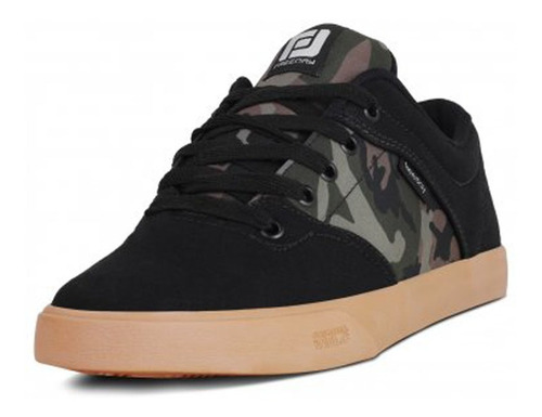 tênis freeday skate camuflado/natural escuro frete grátis