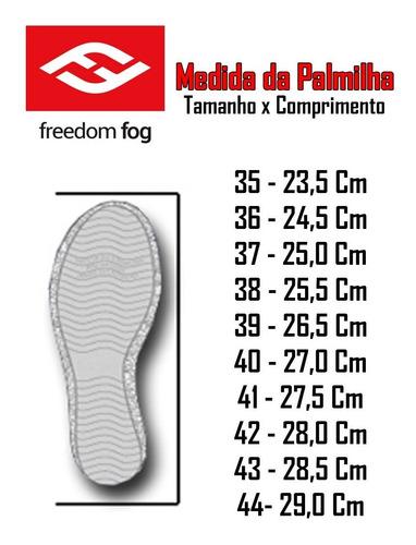 tênis freedom fog - elect pro preto
