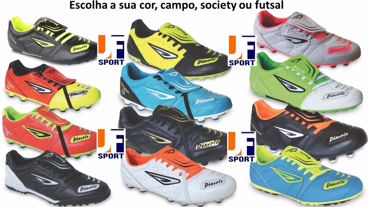 2a80c2c4d4 Tênis Futsal Couro Diavolo - Personalize - Frete Grátis - R  169