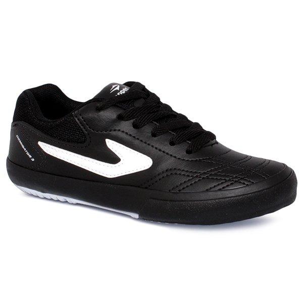 d82182e2ba Tênis Futsal Infantil Topper Dominator 3 Preto branco - R  104