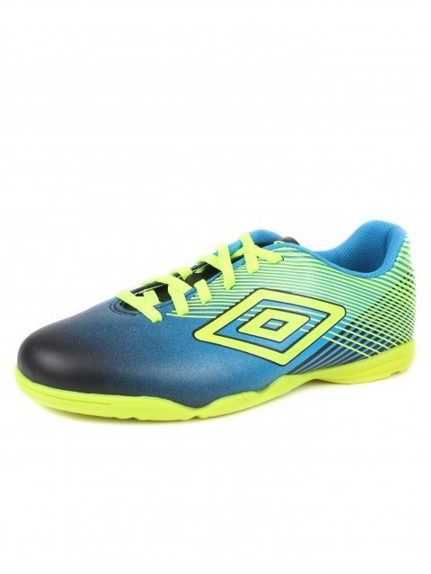 Tênis Futsal Of72075 Indoor Slice Iii Umbro - Preto azul lim - R ... 20ba81e053576