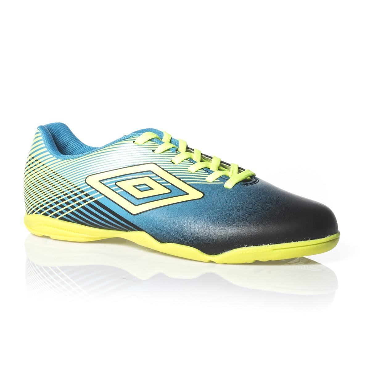 tênis futsal umbro indoor slice iii preto azul limão. Carregando zoom. 5941b7e4c083d