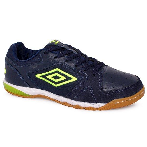 840ff82a1f Tênis Futsal Umbro Pro 3 Of72056 Azul Marinho verde branco - R  319 ...