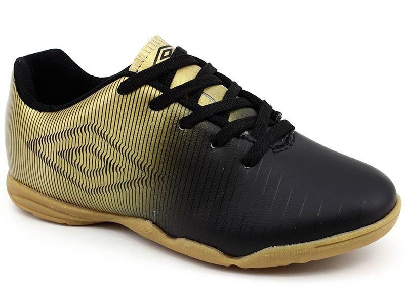 tênis futsal umbro vibe jr 0f82045 preto dourado loja pixolé. Carregando  zoom. 1462853cd0cfe