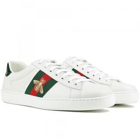 5cd43dcd0a6 Tenis Gucci Masculino Branco Ace - Calçados