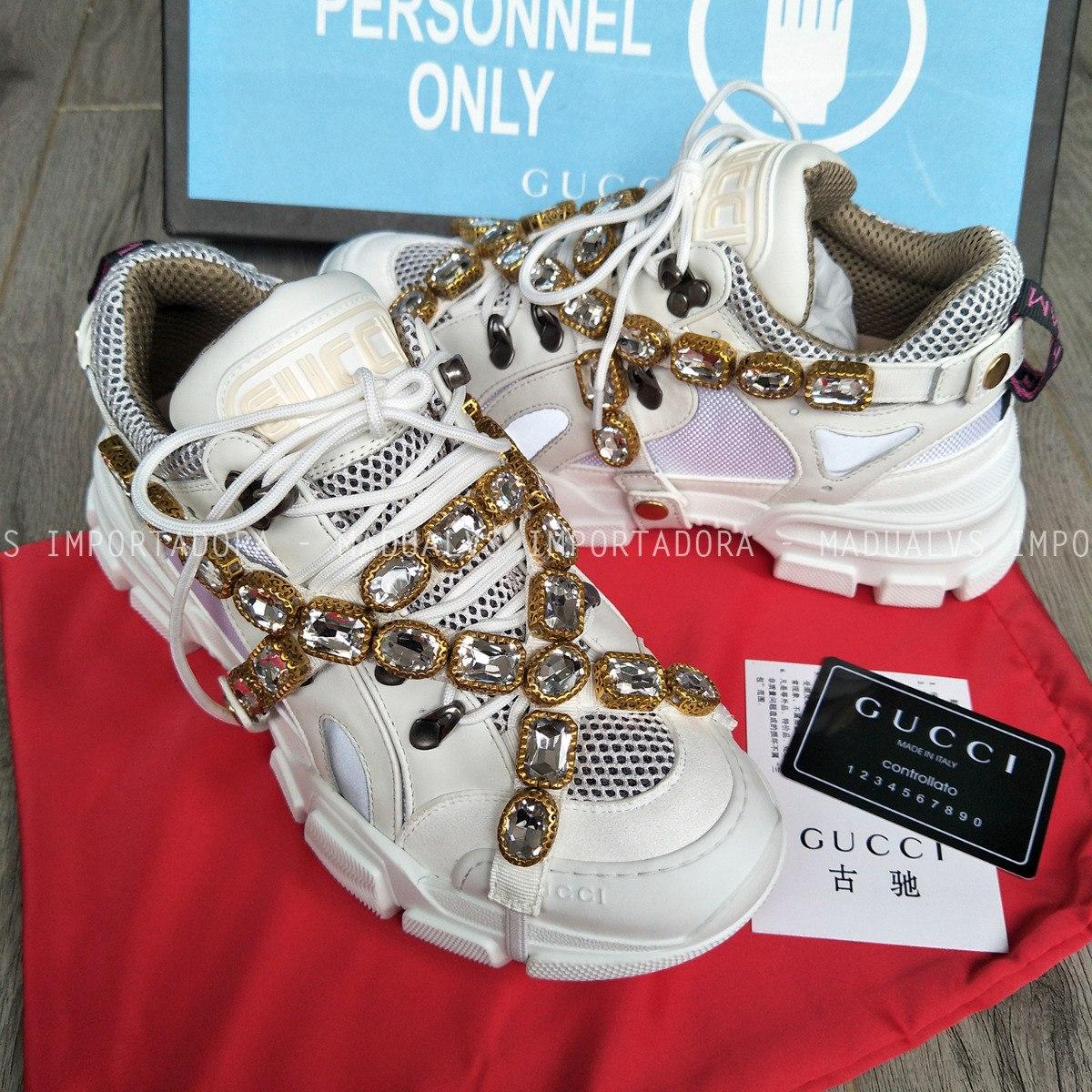 068bfcb16 Tênis Gucci Flashtrek Aplicações Removiveis - Frete Grátis - R ...