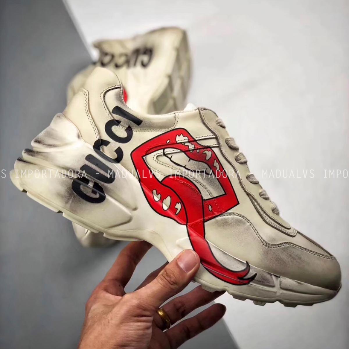 Tênis Gucci Rhyton With Mouth Print G009 - Frete Grátis - R  1.190 ... 3fbaf7ae135
