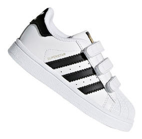 Tênis Infantil adidas Superstar Cf I Branco E Preto Bz0418