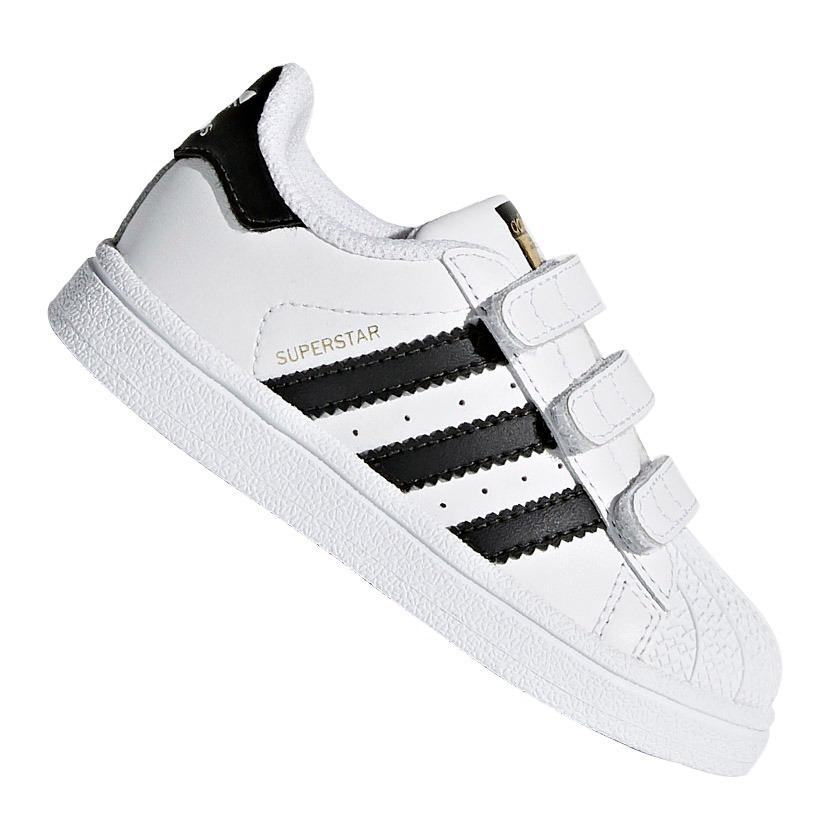 tênis infantil adidas superstar cf i branco e preto original. Carregando  zoom. 488a0295928d8