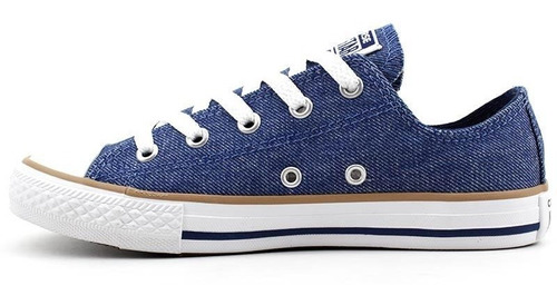 tênis infantil all star converse ck0531 azul jeans pixolé