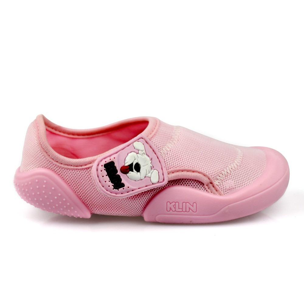f1ff2bdaf5 tênis infantil baby new confort klin rosa -meia com borracha. Carregando  zoom.