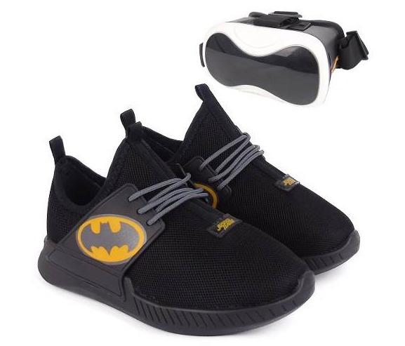 d719d39a373 Tênis Infantil Batman Óculos Realidade Virtual Preto Clique+ - R ...